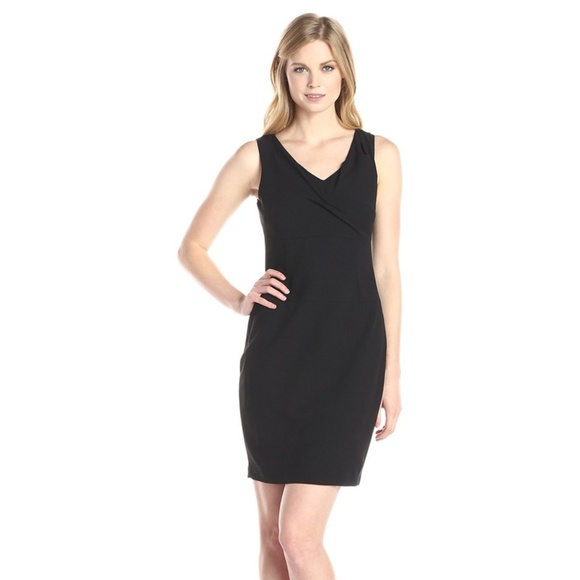 4b15447c NYDJ Dresses | Penelope Stretch Crepe Sheath Dress Black | Poshmark